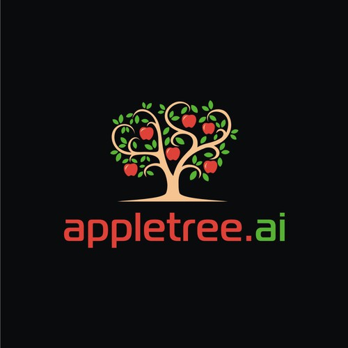 Aplle tree logo concept.