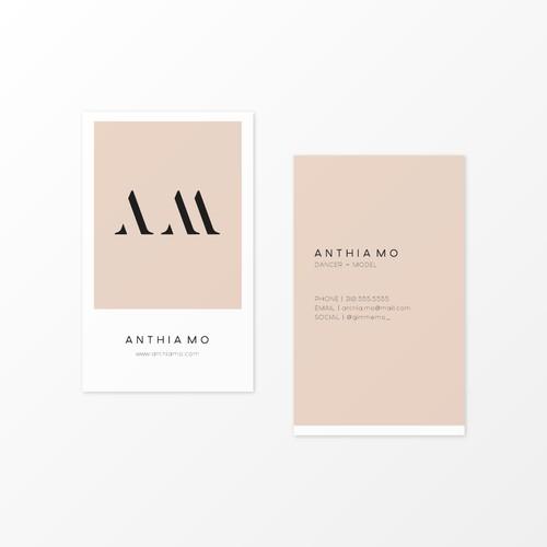 Stylish Logo & Business Card for Dancer/Model