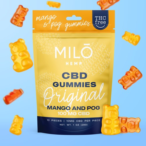 CBD gummies packaging design