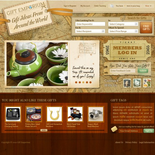 Gift Emporium Website - Can you be Innovative?