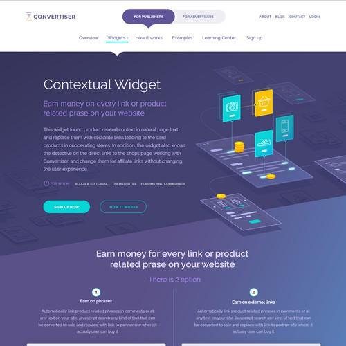 Convertiser Widget page