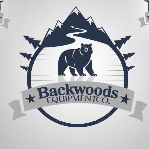 Create an simplistic/clean logo for an outdoor gear company 'BACKWOODS EQUIPMENT CO.'