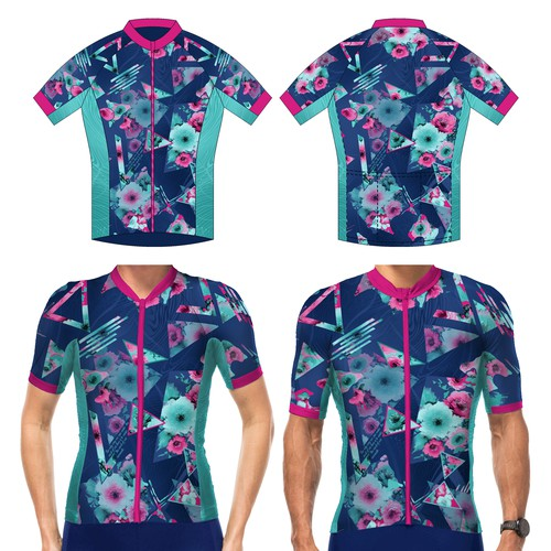 Design a fun and extraordinary cycling jersey for a mixed malefemale team