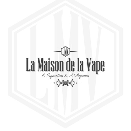 "A Logo for a cigarette online store. ""Maison de"" is a type of shop where people goes for quality, and expertise."