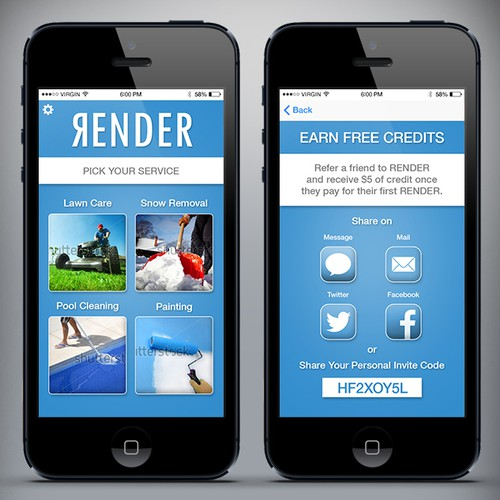 Render mobile app