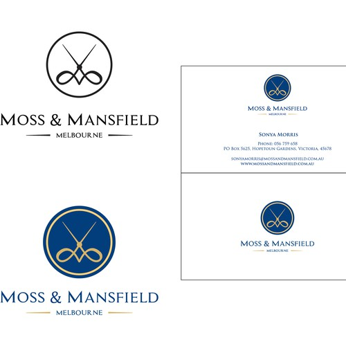 Create a timeless logo for luxury brand Moss & Mansfield.