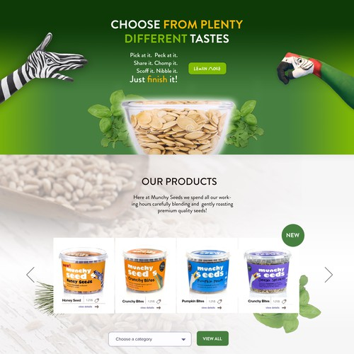 Design for a Healthy Foods & Snacks Website