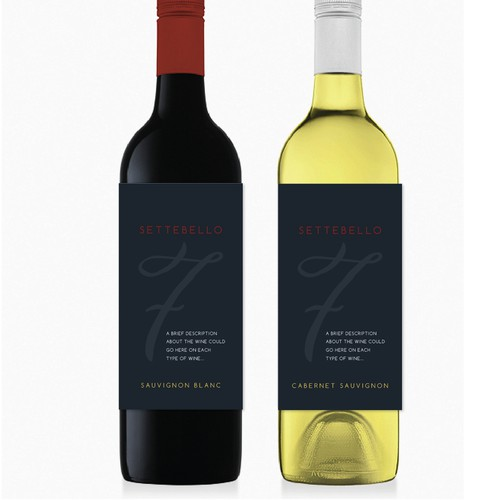 Create a brand new wine label for high quality Australia grown Italian wines!