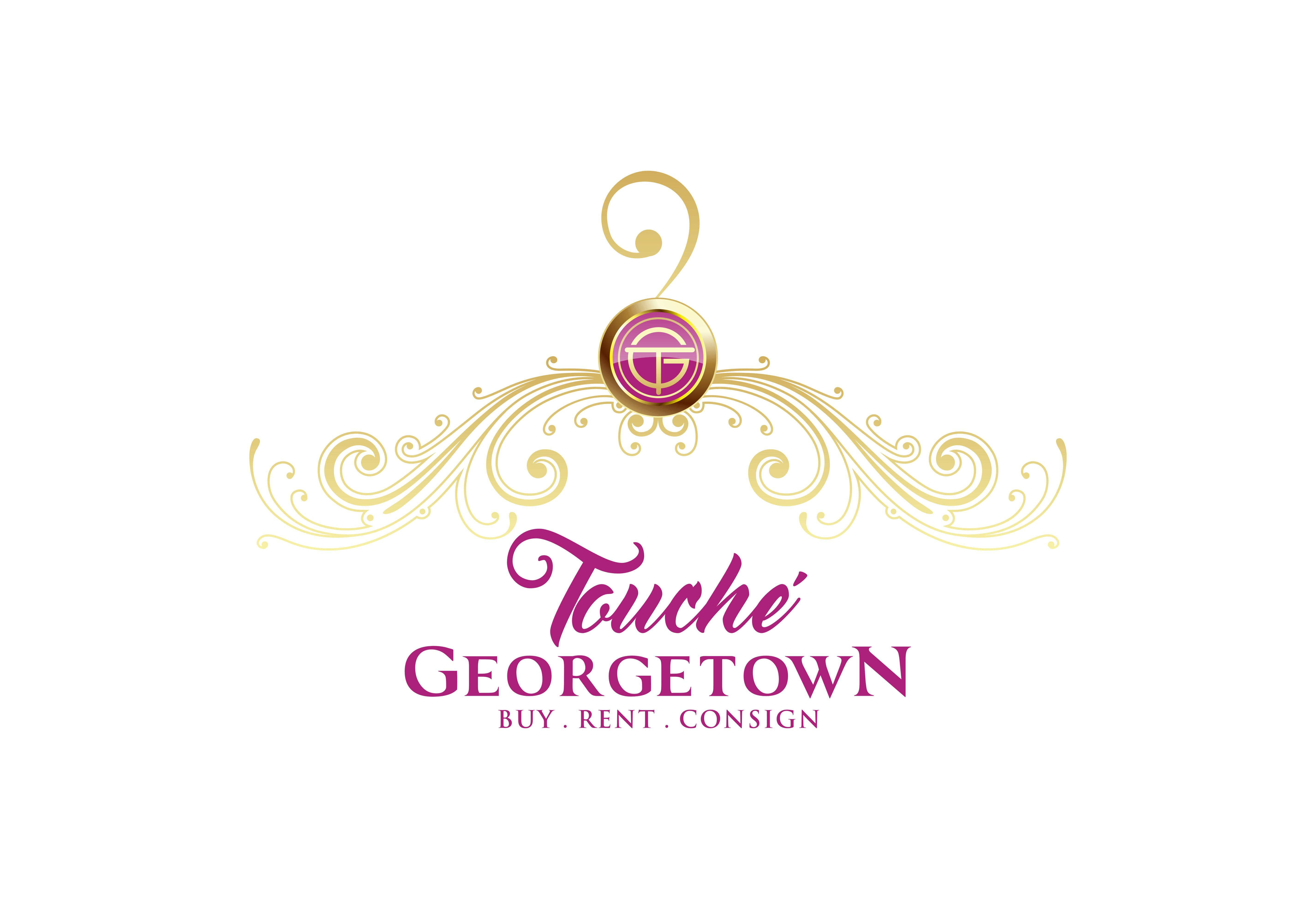 Create an iconic logo for a luxury clothing boutique in Georgetown,DC