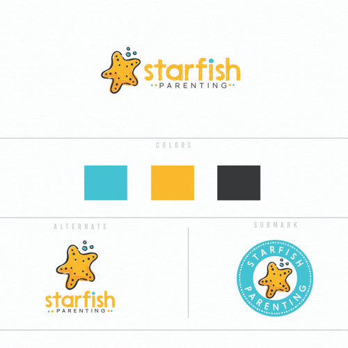 Parenting strategies start-up needing Logo featuring a Starfish