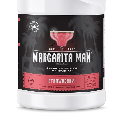 Label for Margarita Concentrated Mix