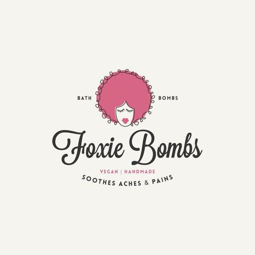 Vintage logo for bath bombs