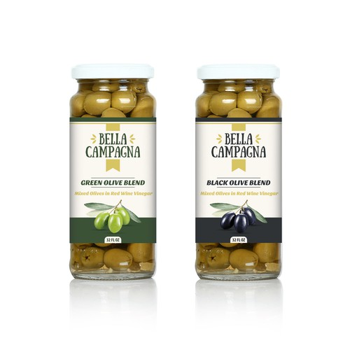 Olives label design