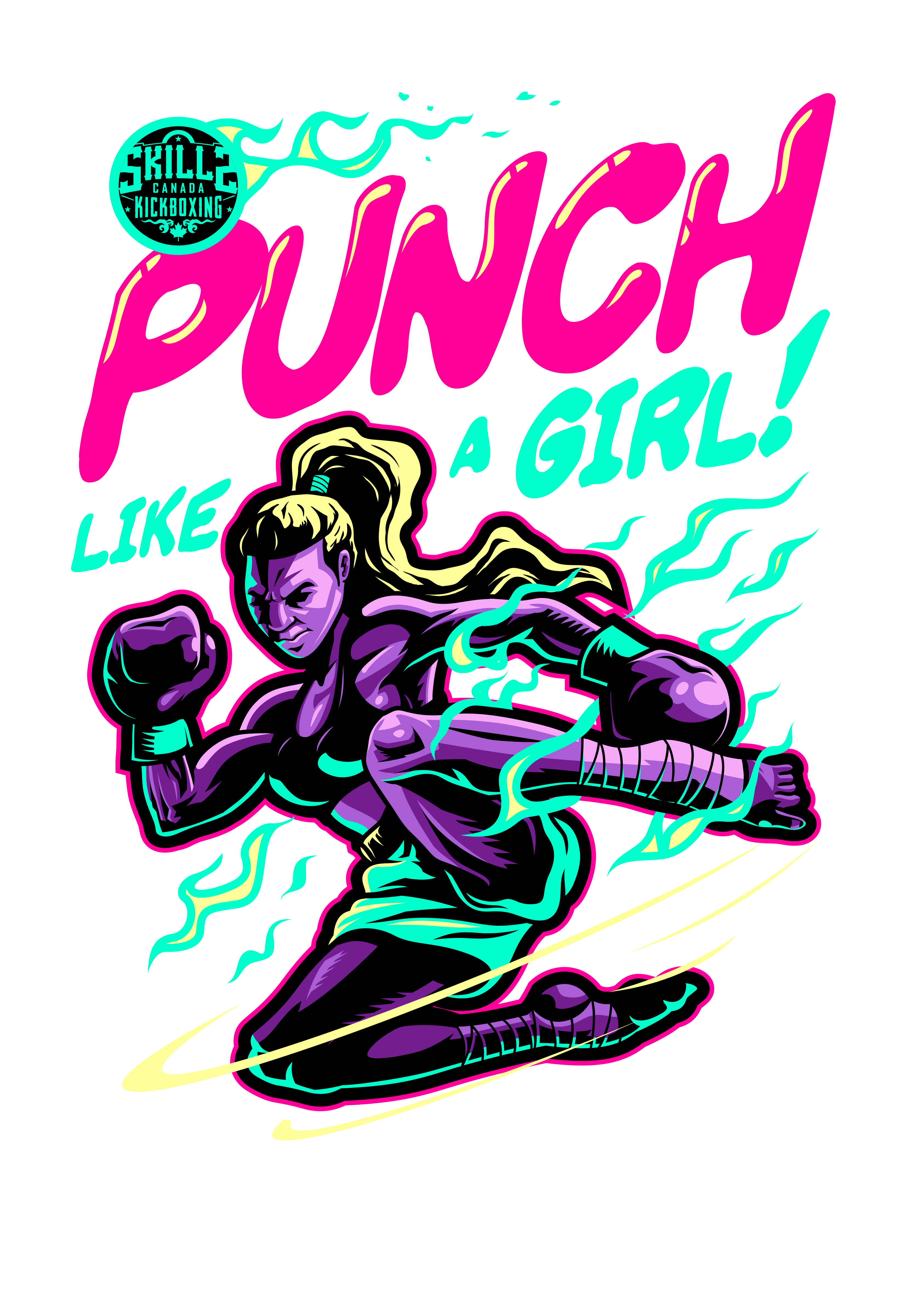 Women's Kickboxing T-Shirt Design