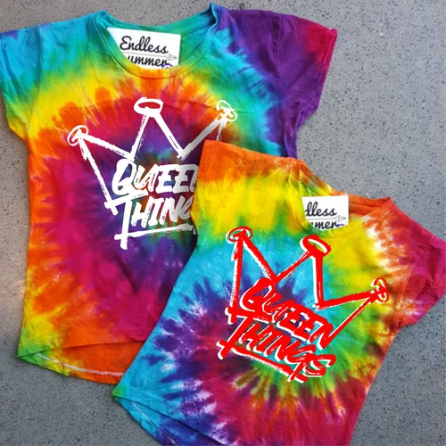 Tie Dye Graphic Tee Design