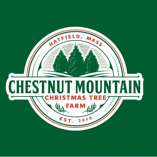 Logo Design for CHESTNUT MOUNTAIN CHRISTMAS TREE FARM
