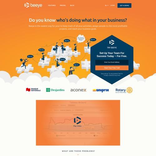 Playful Website redesign for a management web app