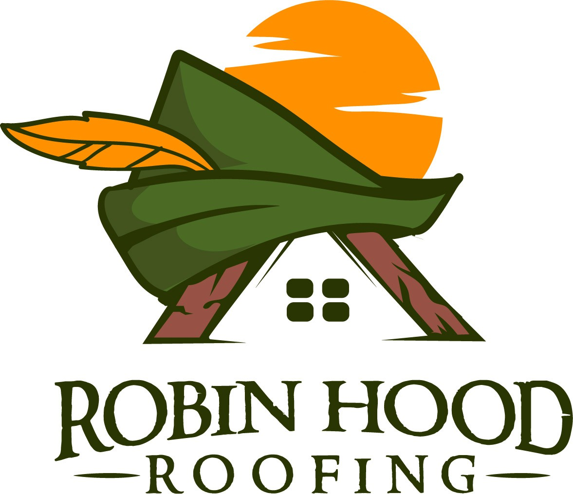 Take aim at a great logo for Robin Hood Roofing