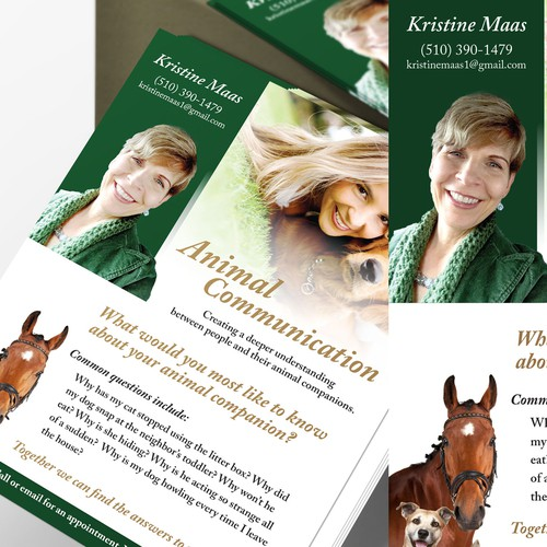 Create postcard for an animal communications expert!