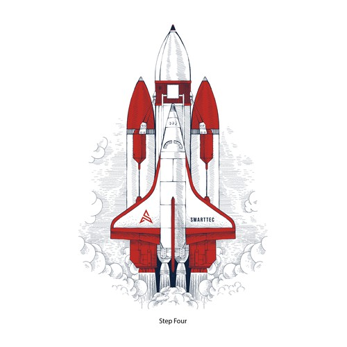 Smarttec set of rocket illustrations