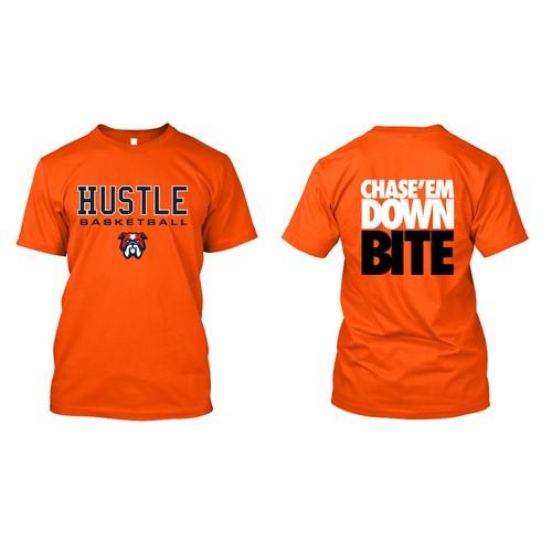 Hustle Basketball - Tshirt Design