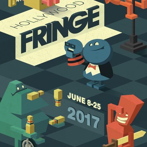 Hollywood Fringe cover illustration