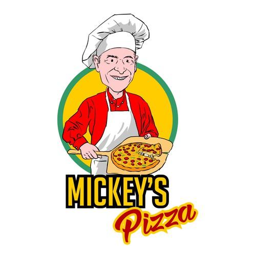 Italian Pizza Chef Caricature