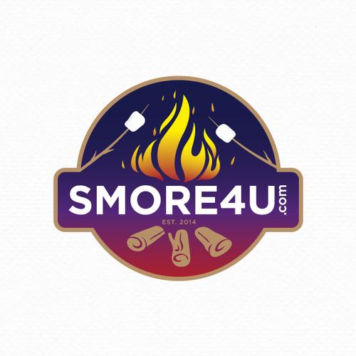 Modern campfire logo for smore4u.com