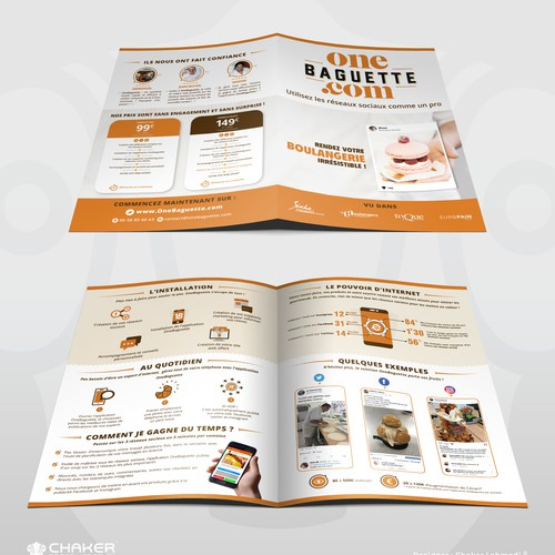 Brochure design for One Baguette