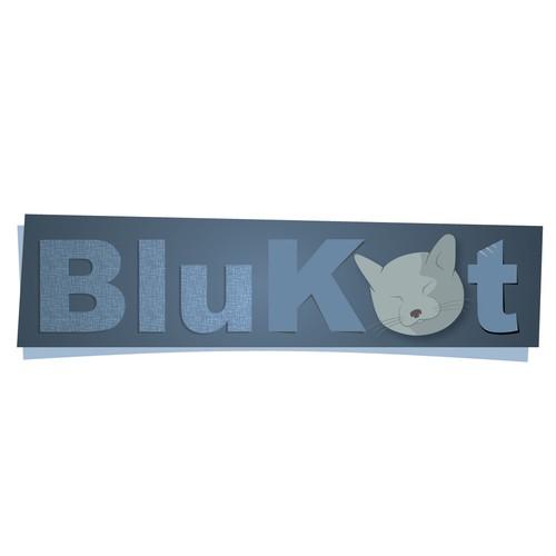 Create a subtle logo for BluKat