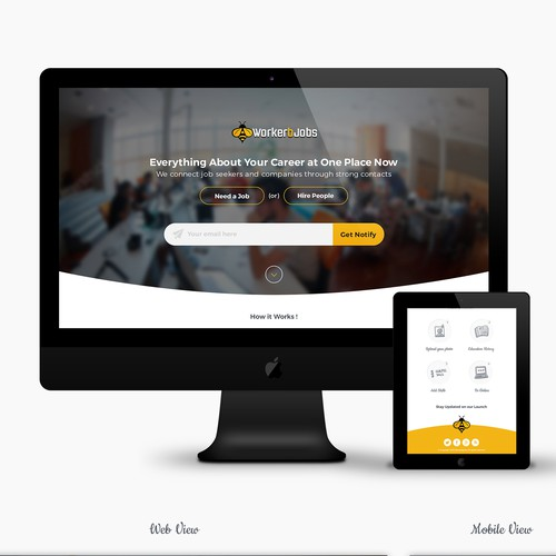 Landing Page for WorkerbJobs..