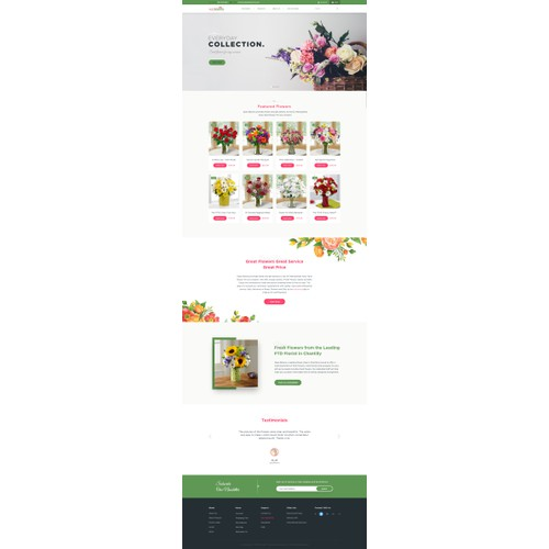 Website concept for Openblooms