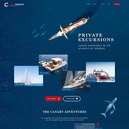 Webdesign for private excursion company