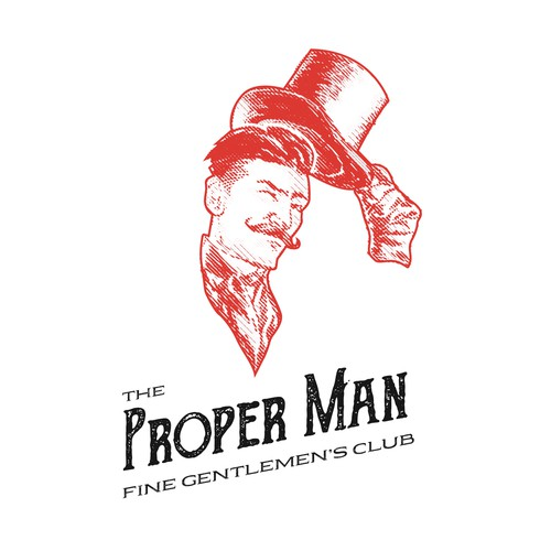 The Proper Man logo design
