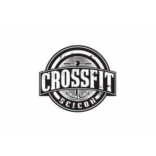 Create a CrossFit gym logo tapping in to a harbor area theme