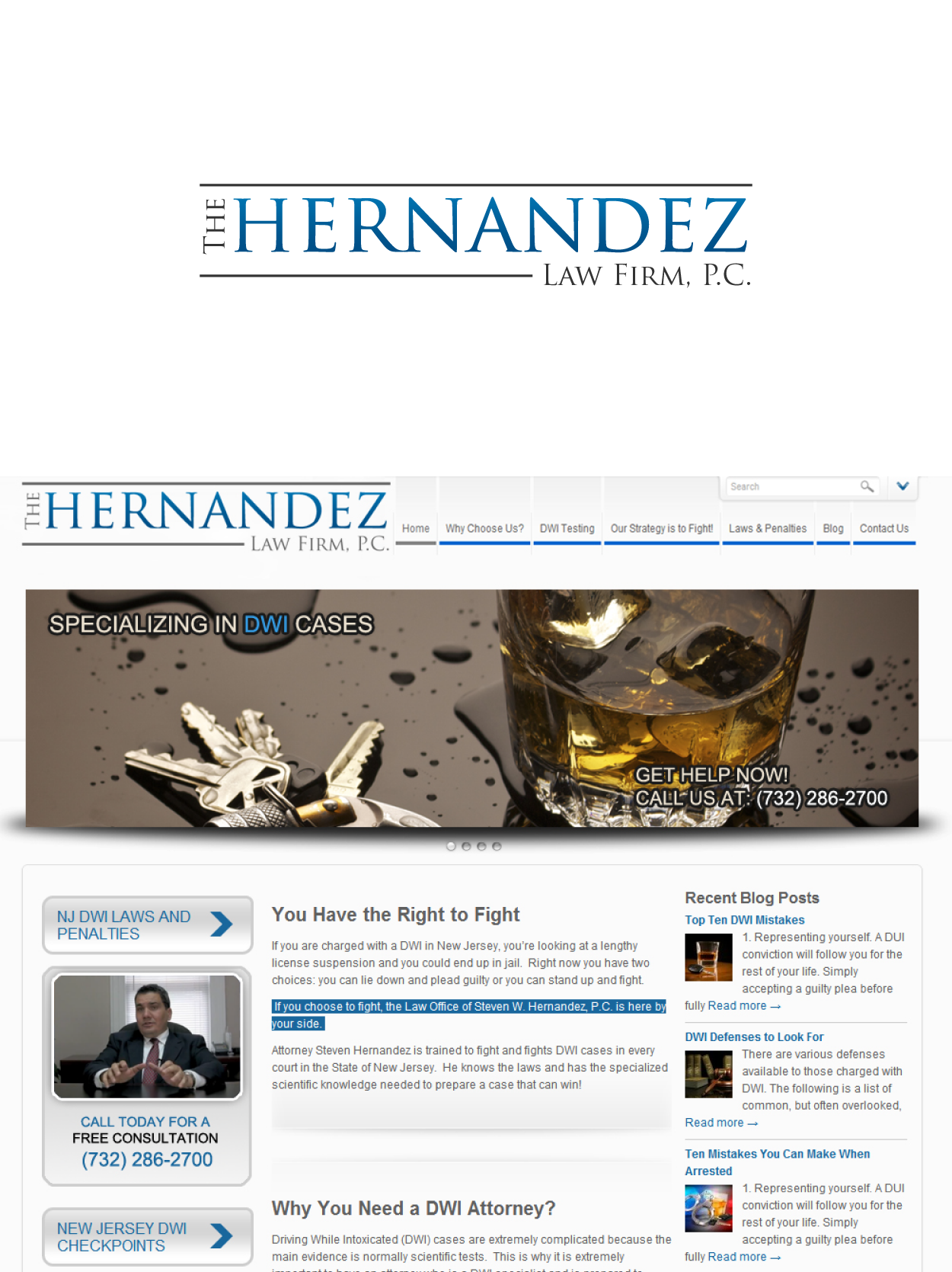 Create the next logo for The Hernandez Law Firm, P.C.
