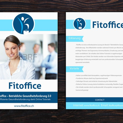 Creative B2B flyer for workplace health management