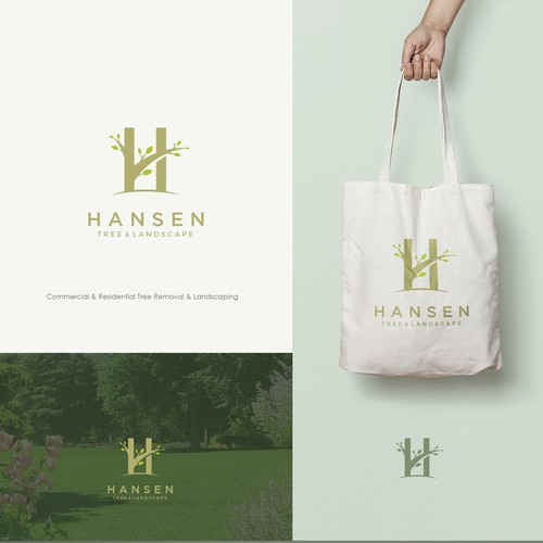 Logo concept for HANSEN tree & landscape.