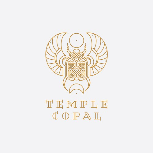 Geometric scarab design for Temple Copal