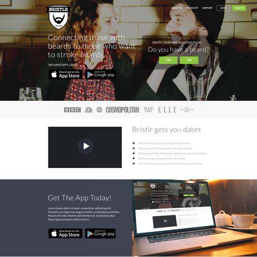 Bristlr Online Dating App Landing Page