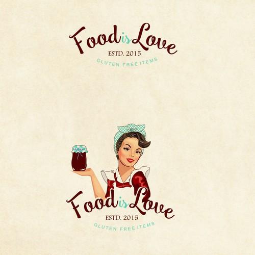 Vintage logo for gluten free items