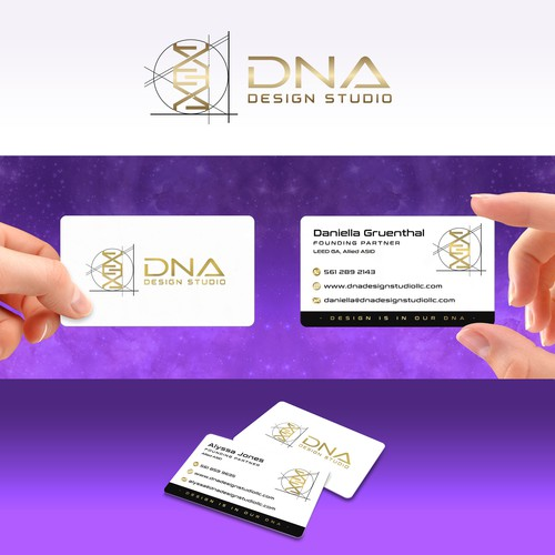 Business card design for DNA Design Studio