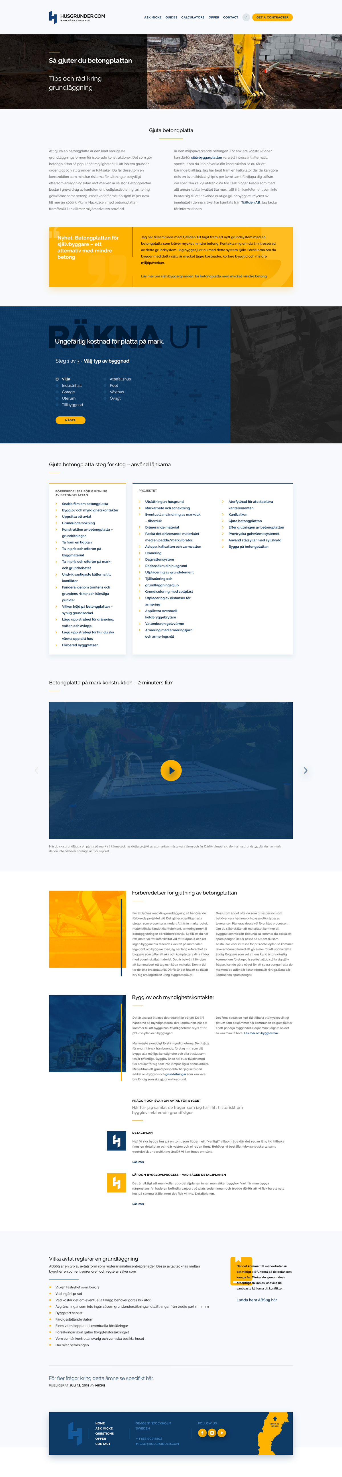 Husgrunder.com: Redesign of landingpage template