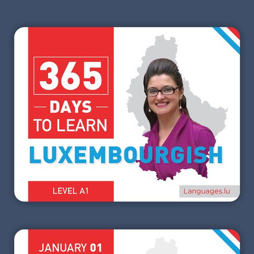 Luxembourgish Language card (calendar) design