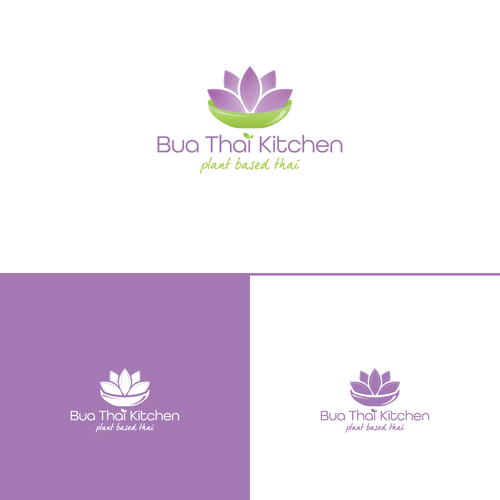Bua Thai Kitchen Logo Design