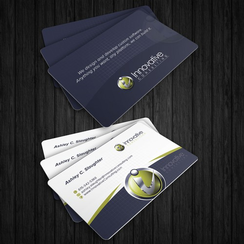 Create an innovative business card for InnovativeConsulting.com