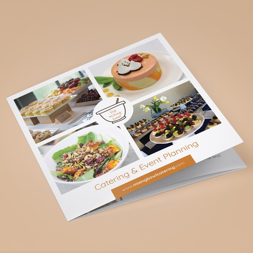 Brochure design for a catering company