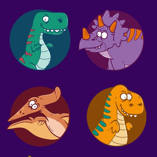 Dinosaur character design