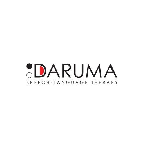 minimal logo for Daruma