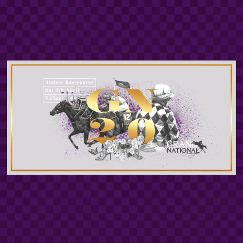 Sophisticated banner promoting the Grand National Race.